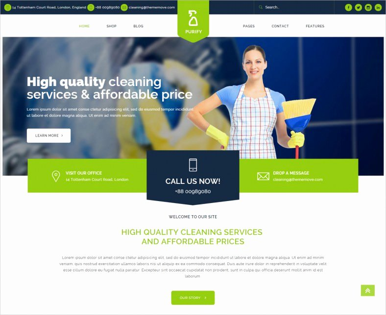 Cleaning Services Website Template Lovely 16 Cleaning Pany Wordpress Templates themes Free