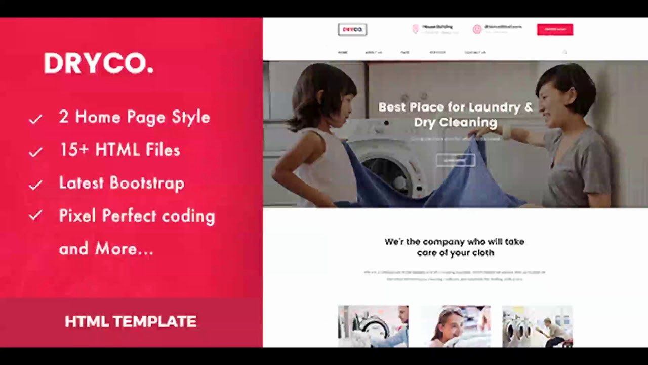 Cleaning Services Website Template Lovely Dryco Laundry Dry Cleaning Services HTML Template