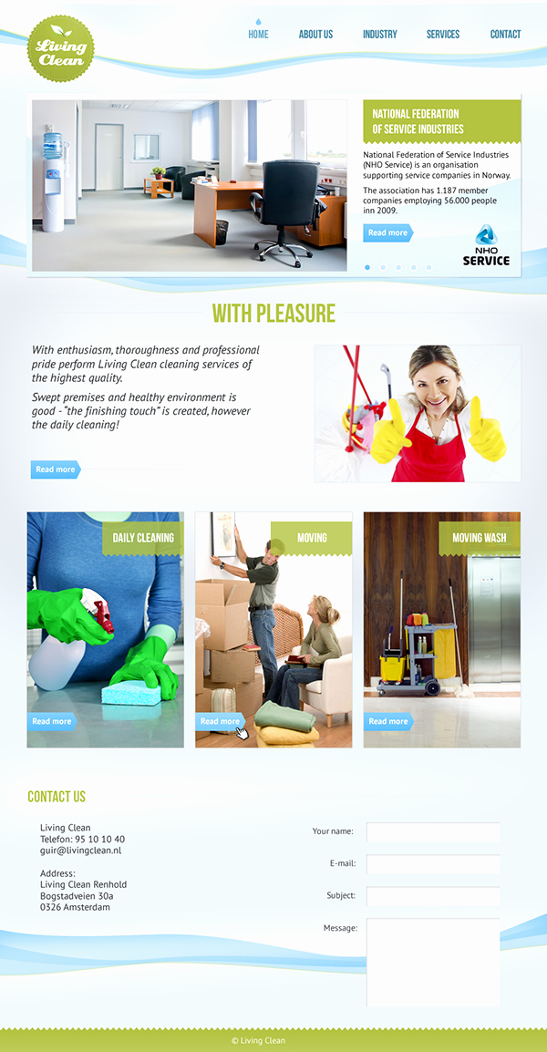Cleaning Services Website Template Lovely Site Template for Cleaning Services On Behance