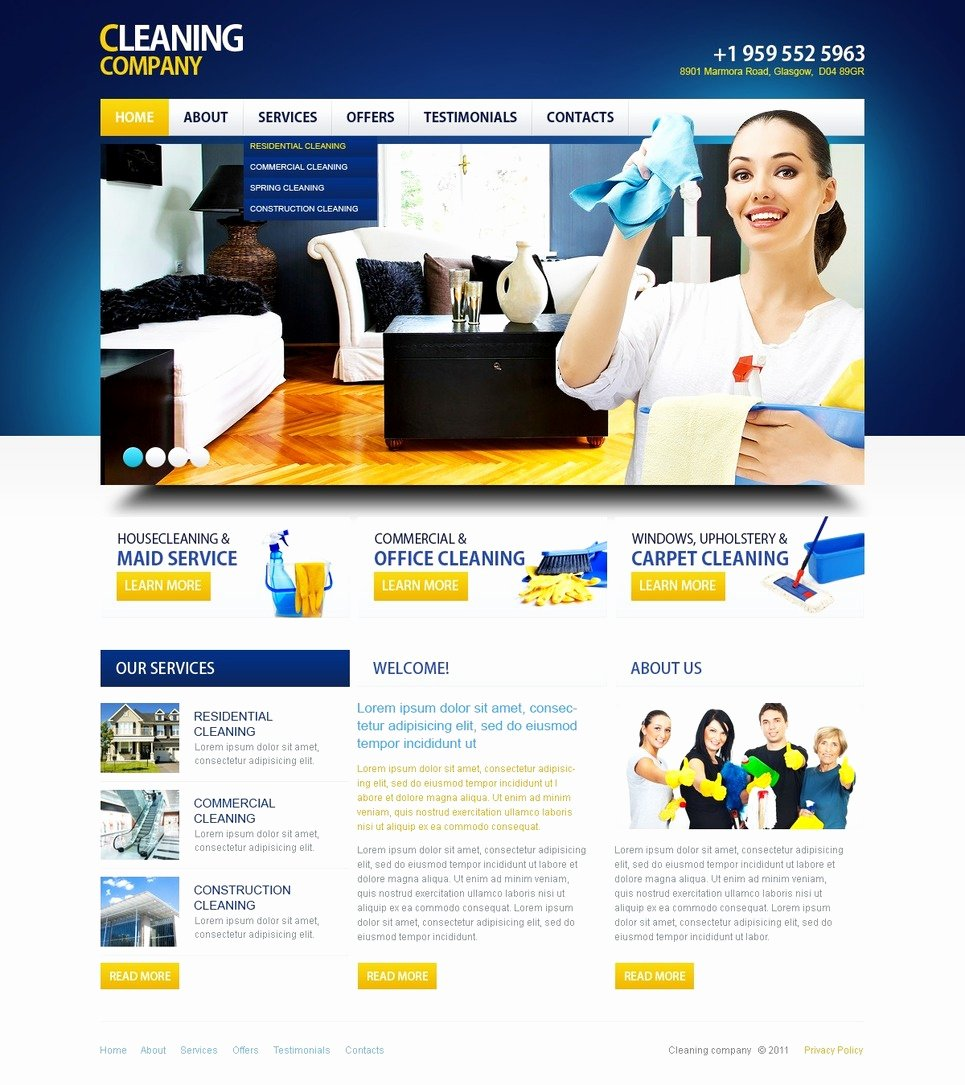 Cleaning Services Website Template Luxury Cleaning Website Template