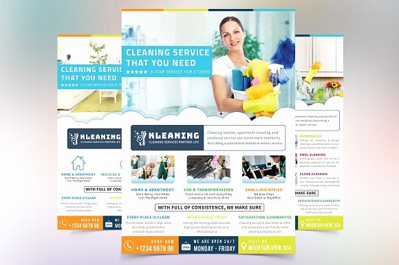 Cleaning Services Website Template New Cleaning Service Flyer Flyer Templates Creative Market
