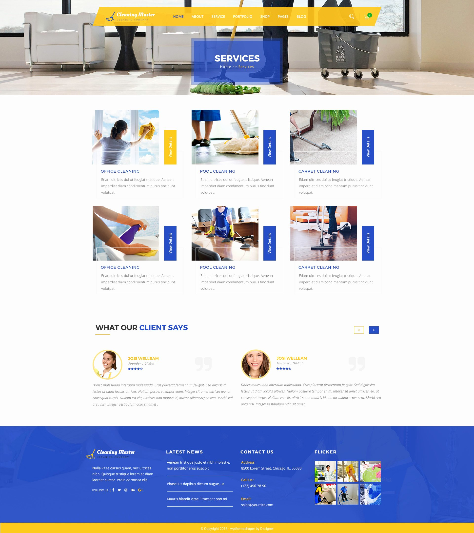 Cleaning Services Website Template New Clening Master Cleaning Pany Psd Template by
