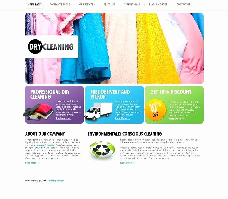 Cleaning Services Website Template New Dry Cleaning Website Templates Laundry Services Cleaner