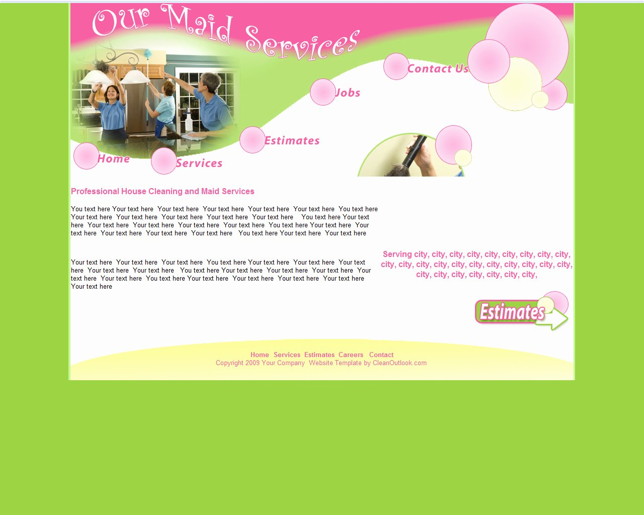 Cleaning Services Website Template Unique Maid Service Maid Service Website Template