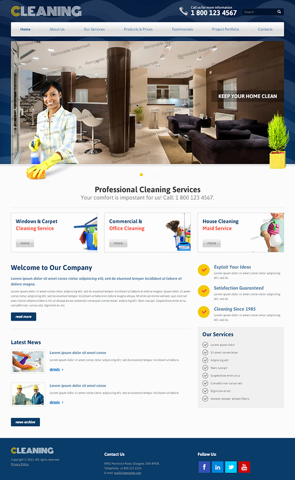 Cleaning Services Website Template Unique Professional Cleaning Services Bootstrap HTML Template On