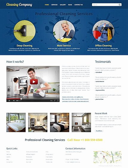 Cleaning Services Website Template Unique Template Cleaning Services Responsive Joomla