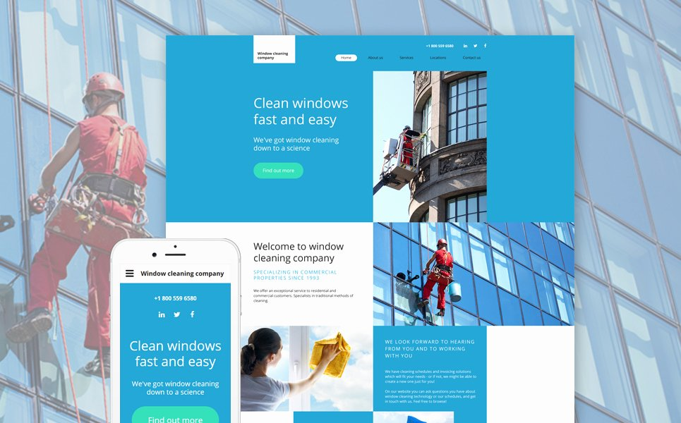 Cleaning Services Website Template Unique Window Cleaning Website Template