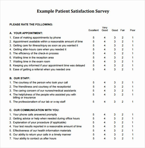Client Satisfaction Survey Template Best Of 9 Sample Client Satisfaction Survey Templates