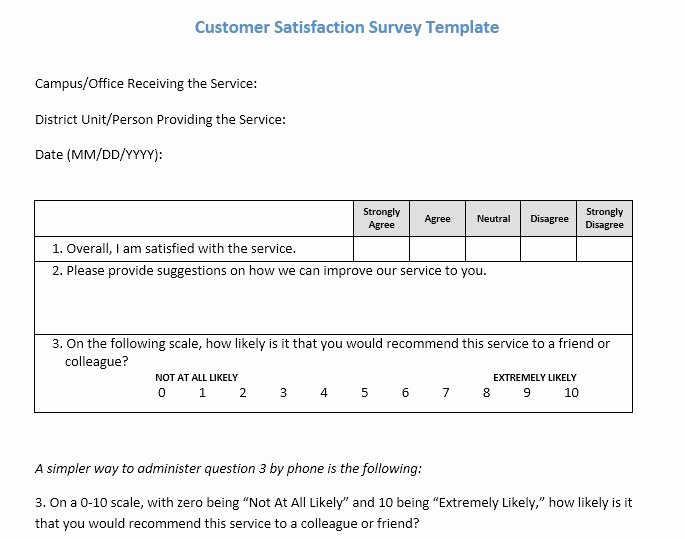 Client Satisfaction Survey Template Inspirational 13 Free Sample Customer Satisfaction Survey Printable