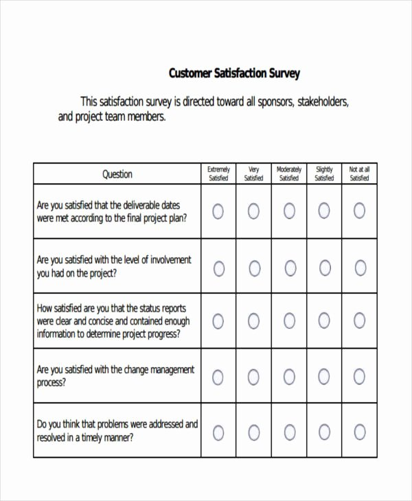 Client Satisfaction Survey Template Inspirational Example Of Survey forms
