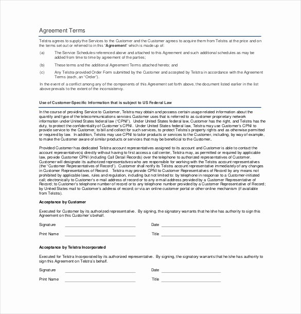 Client Service Agreement Template Best Of 20 Service Agreement Templates – Word Pdf