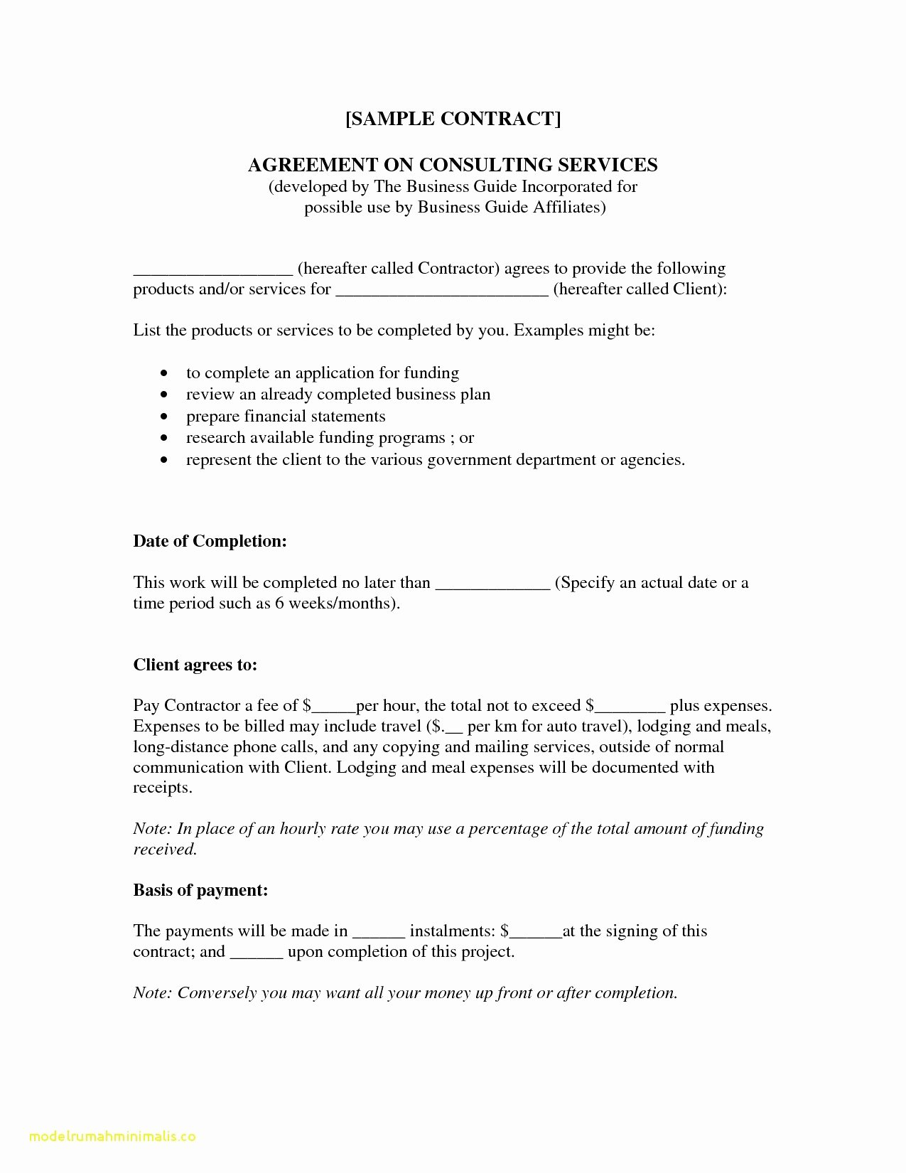 Client Service Agreement Template Lovely Memorandum Understanding Between Two Parties for
