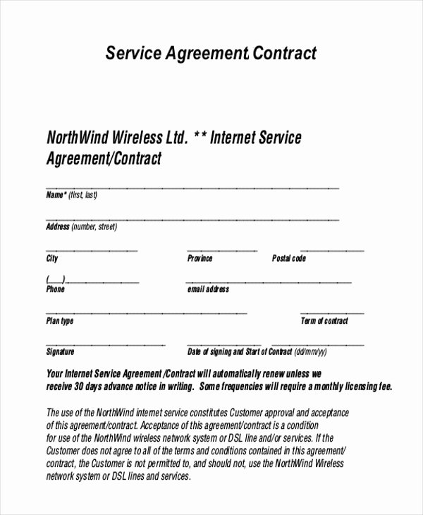 Client Service Agreement Template Lovely Sample Service Agreement form 9 Free Documents In Pdf