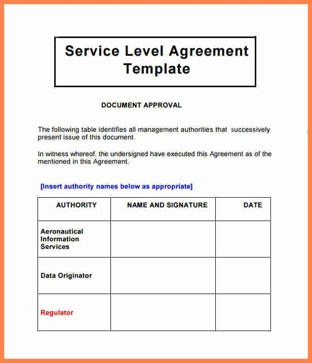 Client Service Agreement Template New 4 Customer Service Level Agreement Template