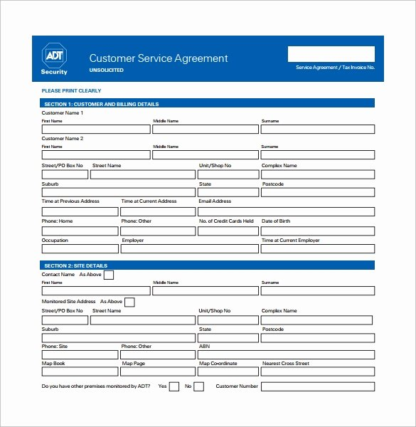 Client Service Agreement Template New Service Contract Template 9 Download Free Documents In