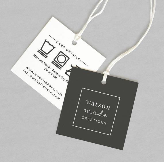 Clothing Hang Tag Template Lovely Custom Clothing Labels Custom Clothing Tags Clothing Tags