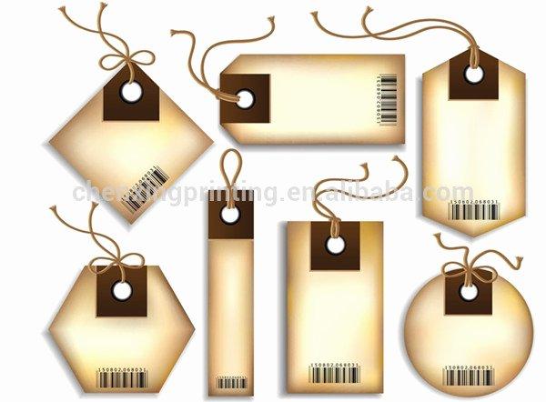 Clothing Hang Tag Template New Novo Design Cortado Etiquetas De Presente De Papel Tag Do