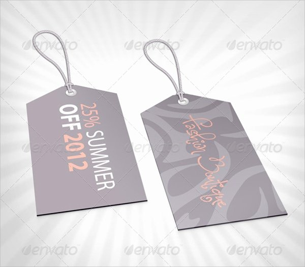Clothing Hang Tag Template New Sample Clothing Tag Template 8 Documents Download In