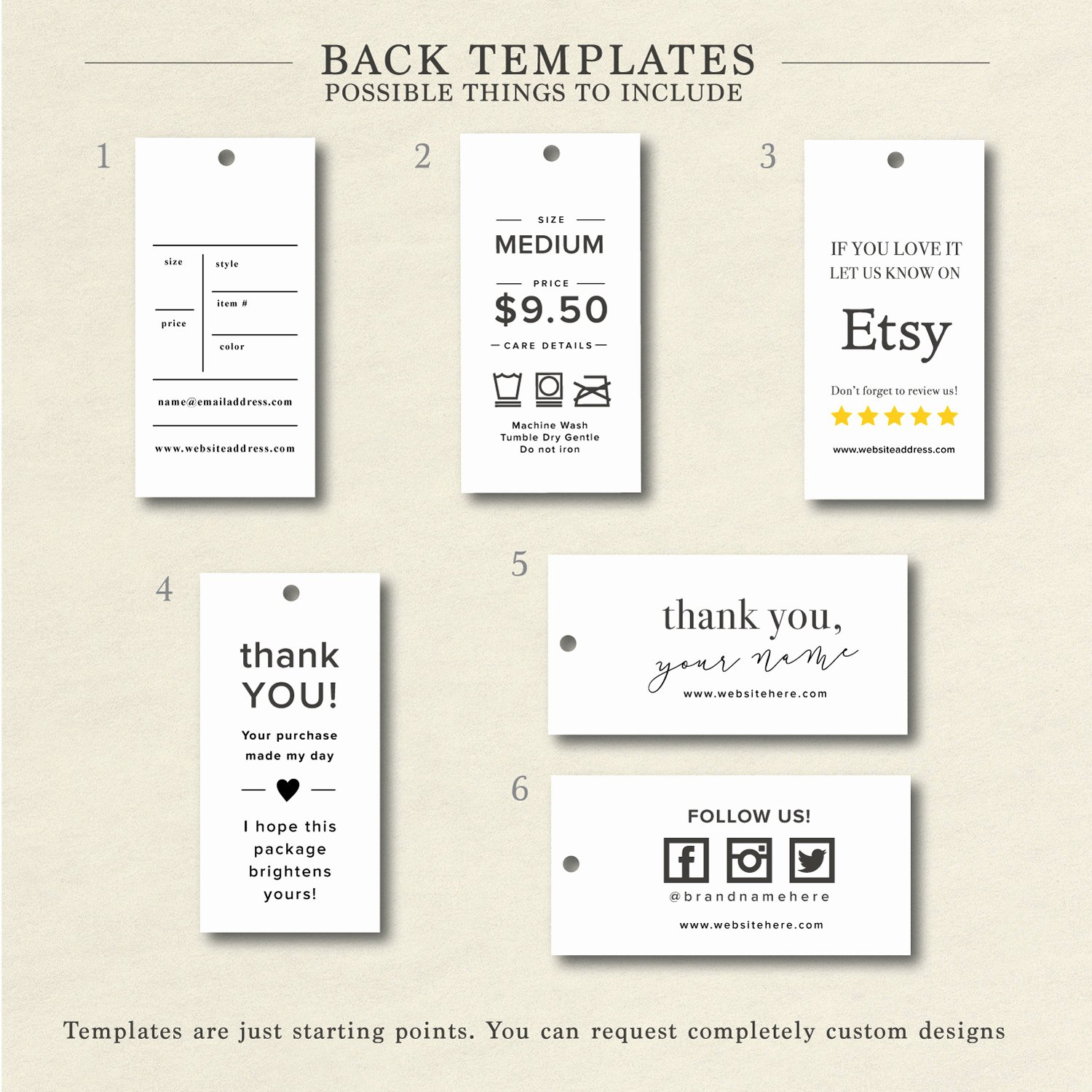 Clothing Hang Tag Template Unique Clothing Size Tags Price Tag Clothing Hang Tags Custom