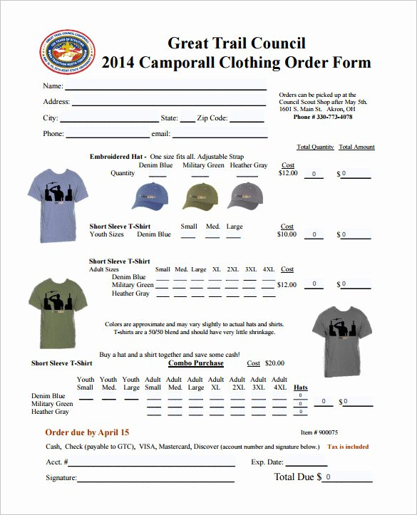 Clothing order form Template Awesome order form Template – 27 Free Word Excel Pdf Documents
