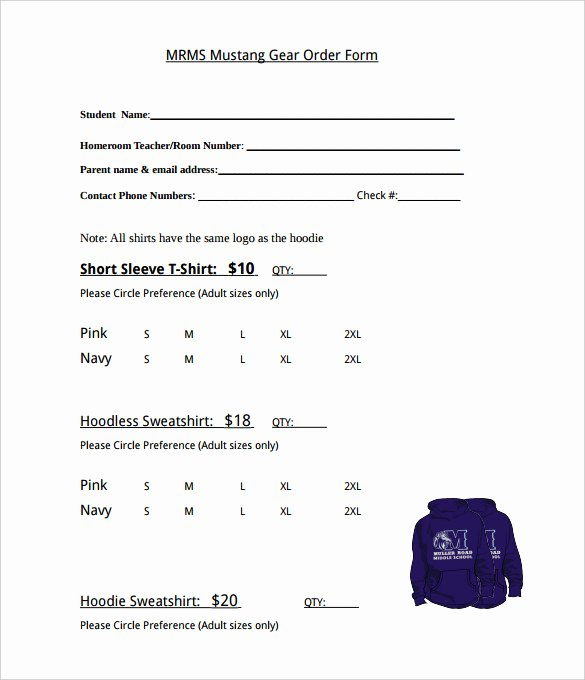 Clothing order form Template Best Of 26 T Shirt order form Templates Pdf Doc
