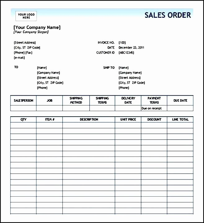 Clothing order form Template Fresh Sales order form Template