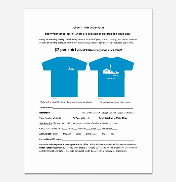 Clothing order form Template Lovely T Shirt order form Template 17 Word Excel Pdf