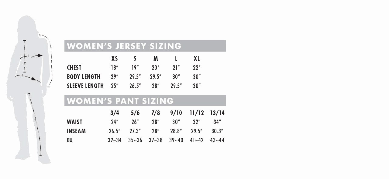 Clothing Size Chart Template Awesome Size Charts