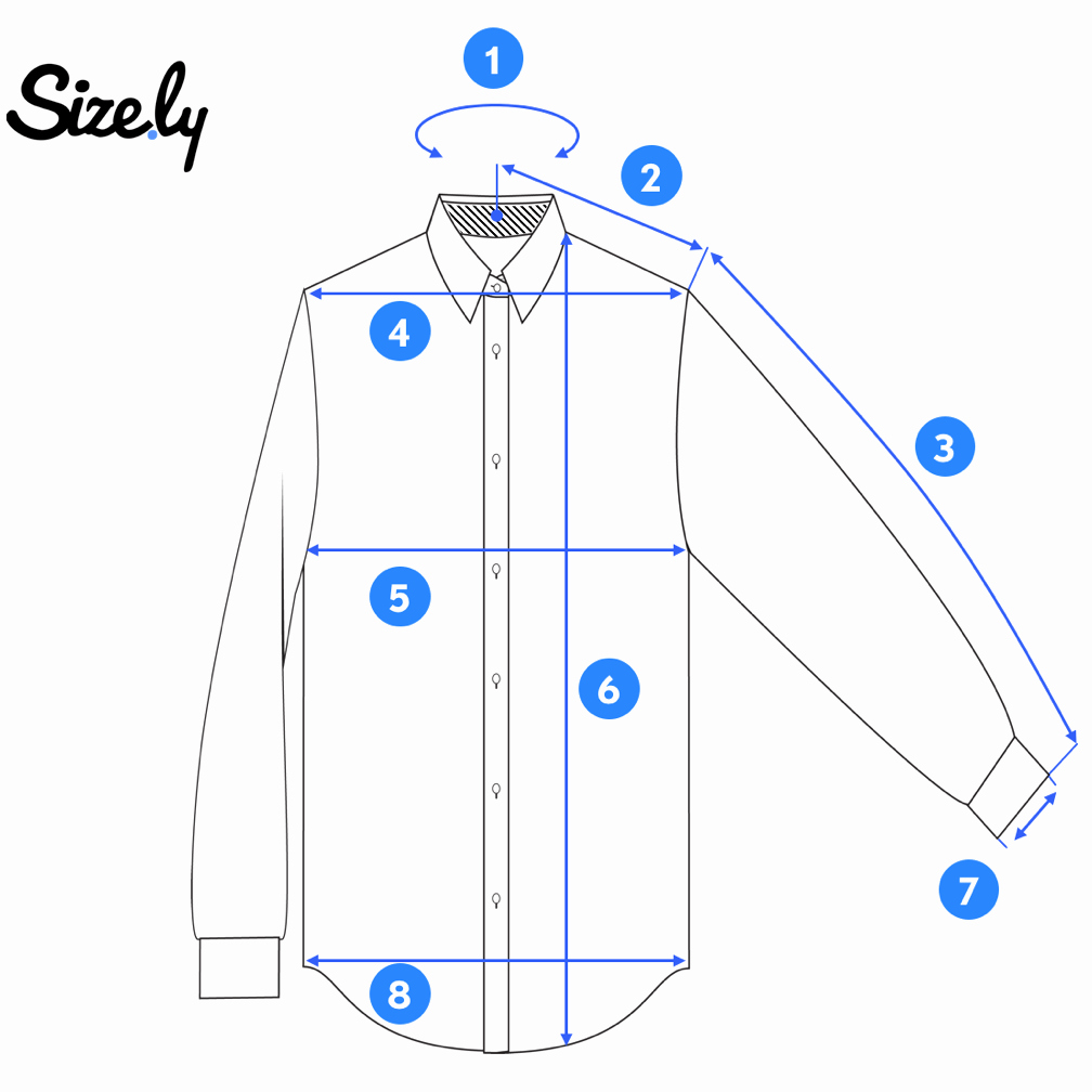 Clothing Size Chart Template Best Of How to Measure A Dress Shirt