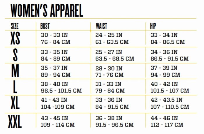 Clothing Size Chart Template Best Of Sizing Chart Persephone Women S Clothing