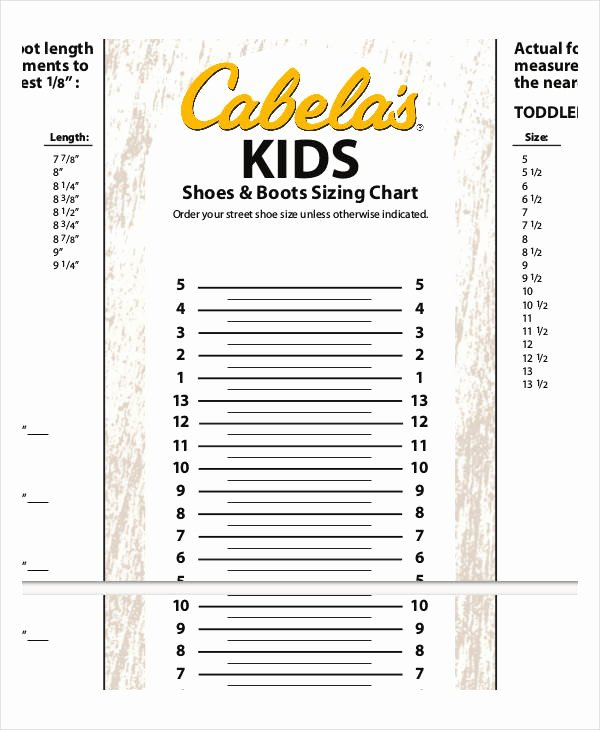 Clothing Size Chart Template Elegant Printable Shoe Size Chart