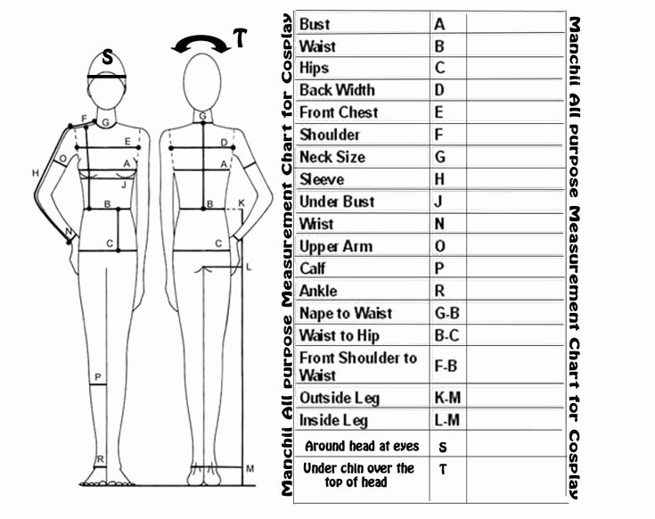 Clothing Size Chart Template Fresh 17 Best Images About Sewing Measure and Croquis On