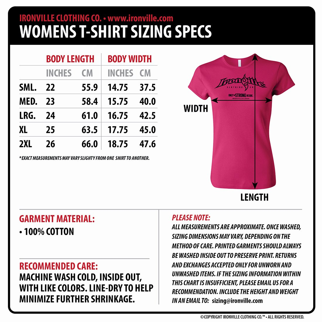 Clothing Size Chart Template Fresh Lift Hard Womens Fitness T Shirt