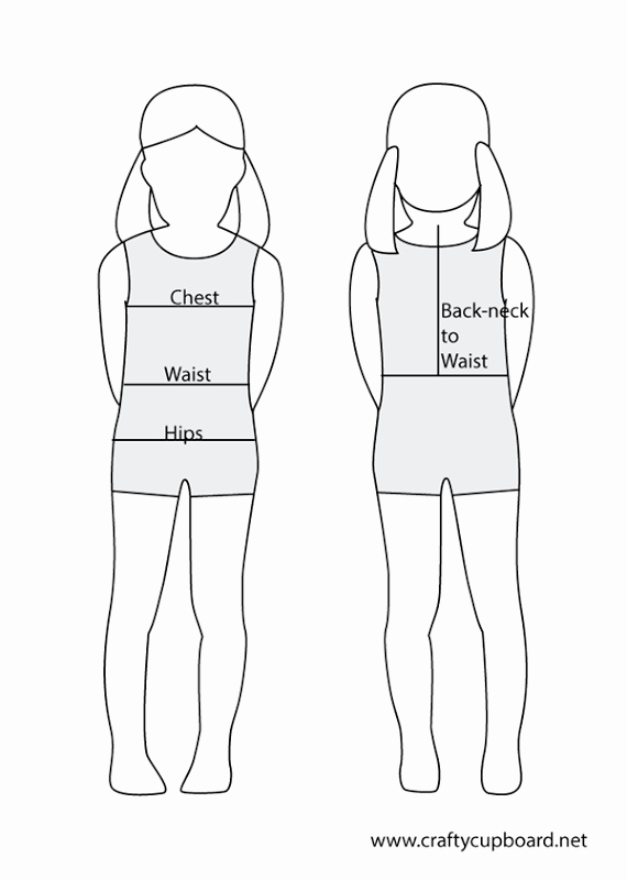 Clothing Size Chart Template Luxury Children's Standard Measurements