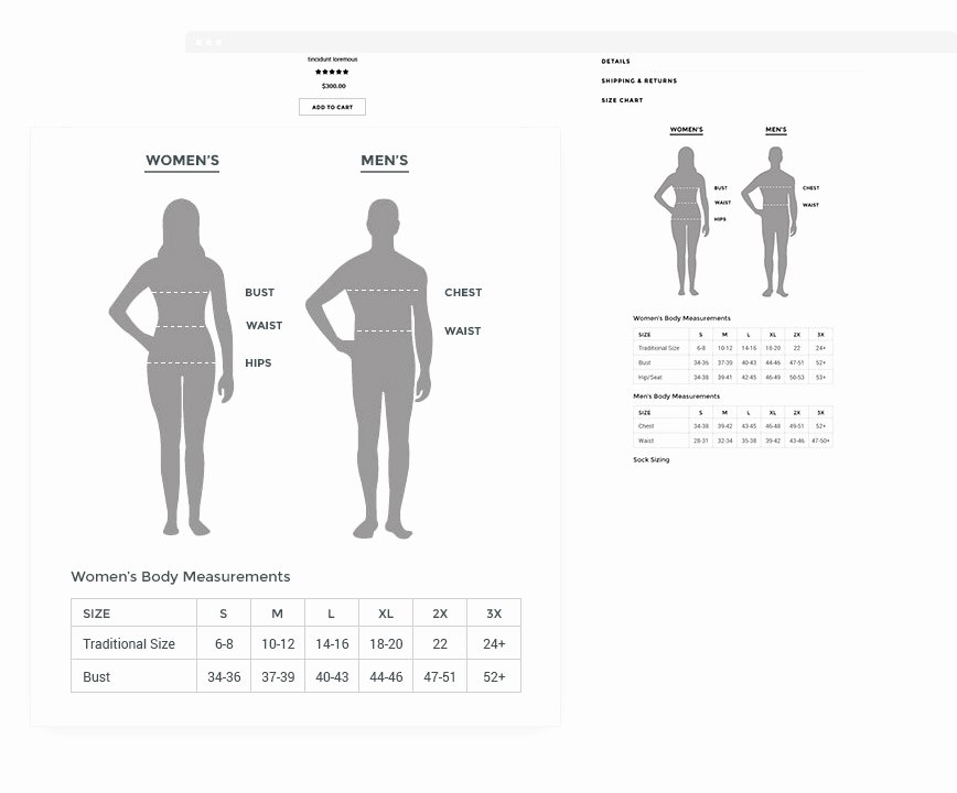Clothing Size Chart Template Luxury Ella Responsive Fashion Shopify Template Sections Ready