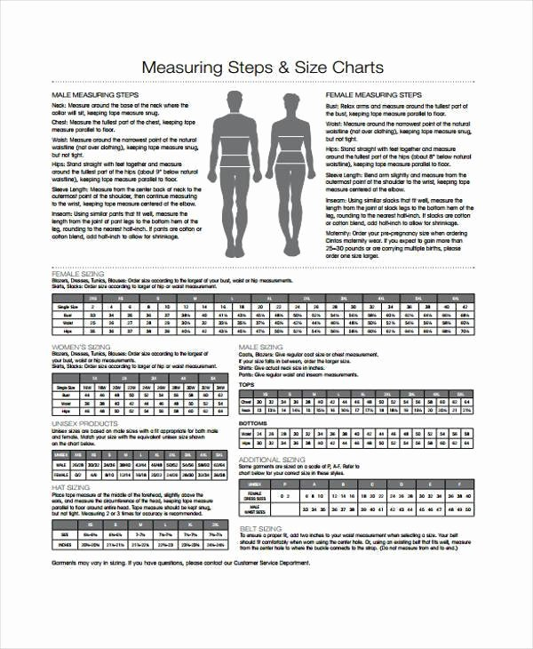 Clothing Size Chart Template New Clothing Size Chart Template Homeschoolingforfree