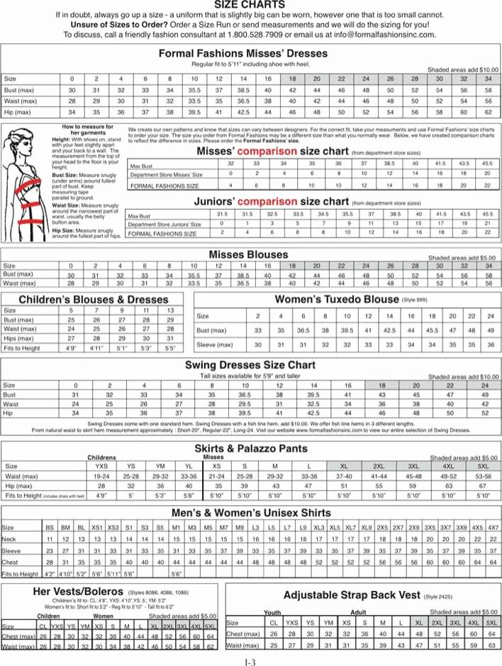 Clothing Size Chart Template Unique Download Clothing Size Chart for Free Tidytemplates