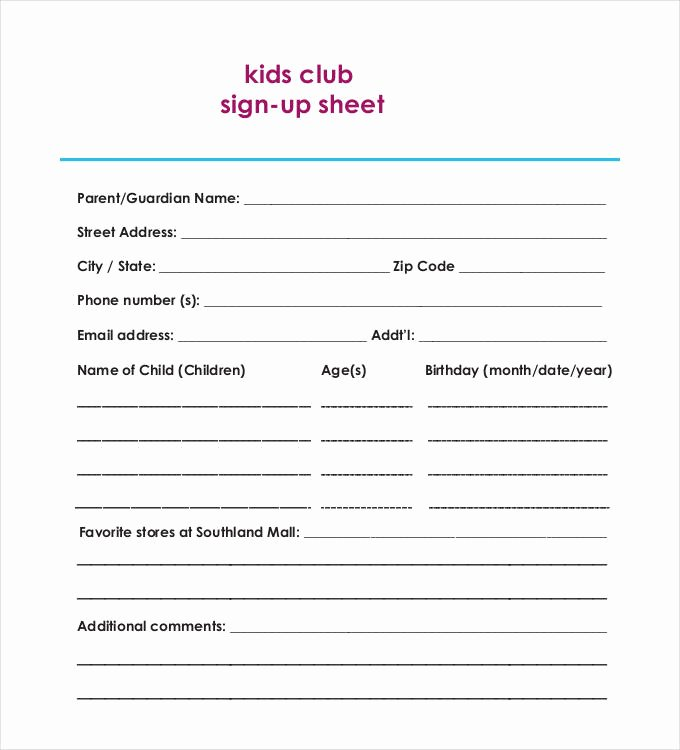 Club Sign Up Sheet Template Fresh Birthday Sign Up Sheet Template – Best Happy Birthday Wishes