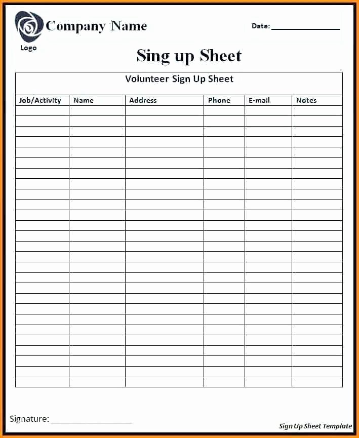 Club Sign Up Sheet Template Lovely Sign Out Sheet Template Excel Free Restaurant Inventory