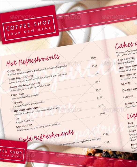 Coffee Shop Menu Template Awesome 20 Coffee Menu Templates – Free Sample Example format