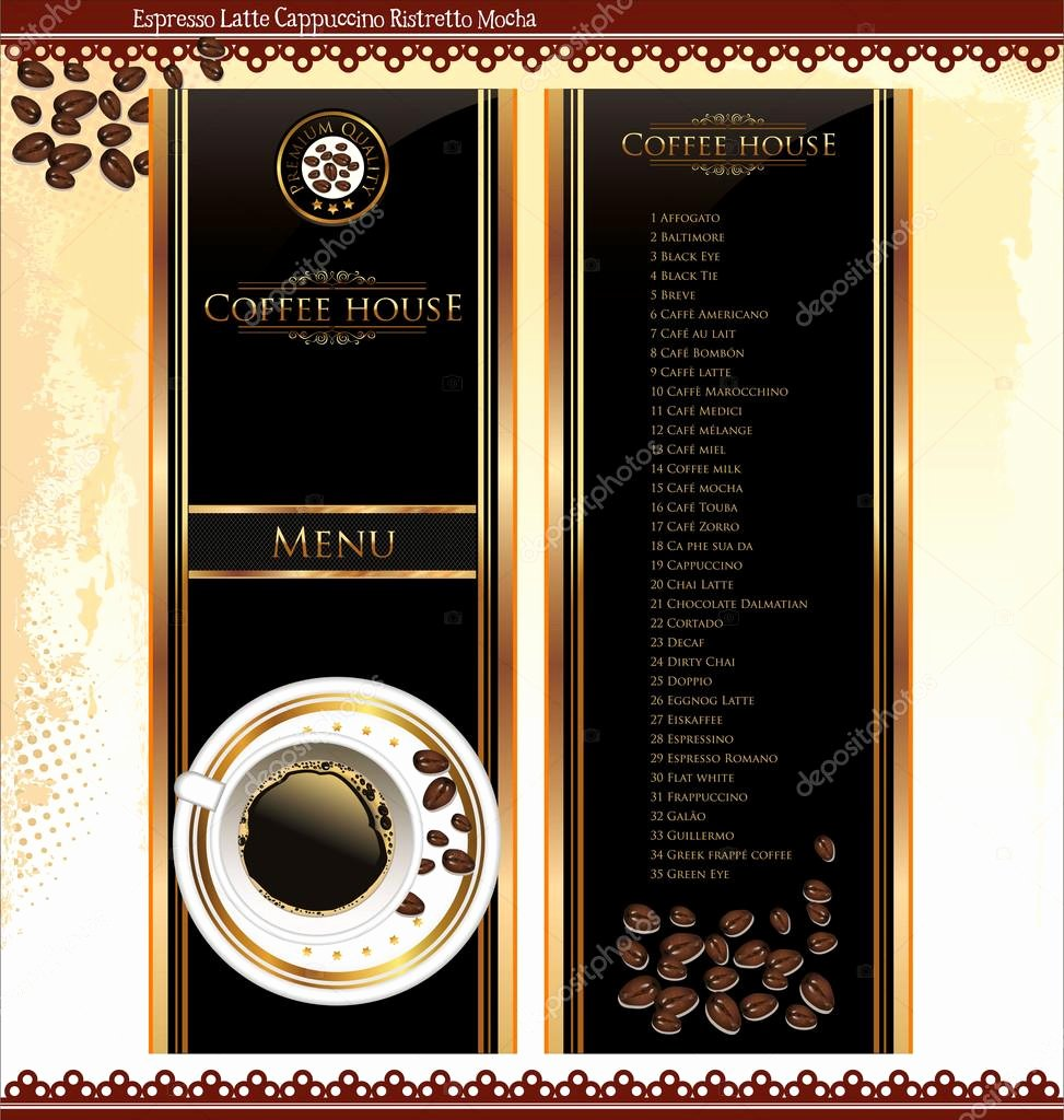 Coffee Shop Menu Template Awesome Coffee Shop Menu Template — Stock Vector © totallyout