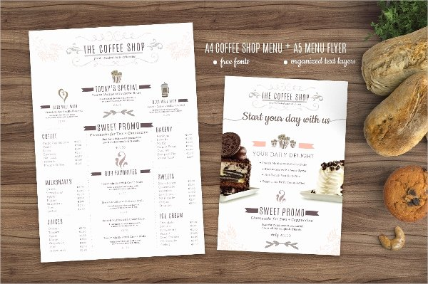 Coffee Shop Menu Template Beautiful 21 Coffee Shop Flyer Templates Free Psd Ai Vector