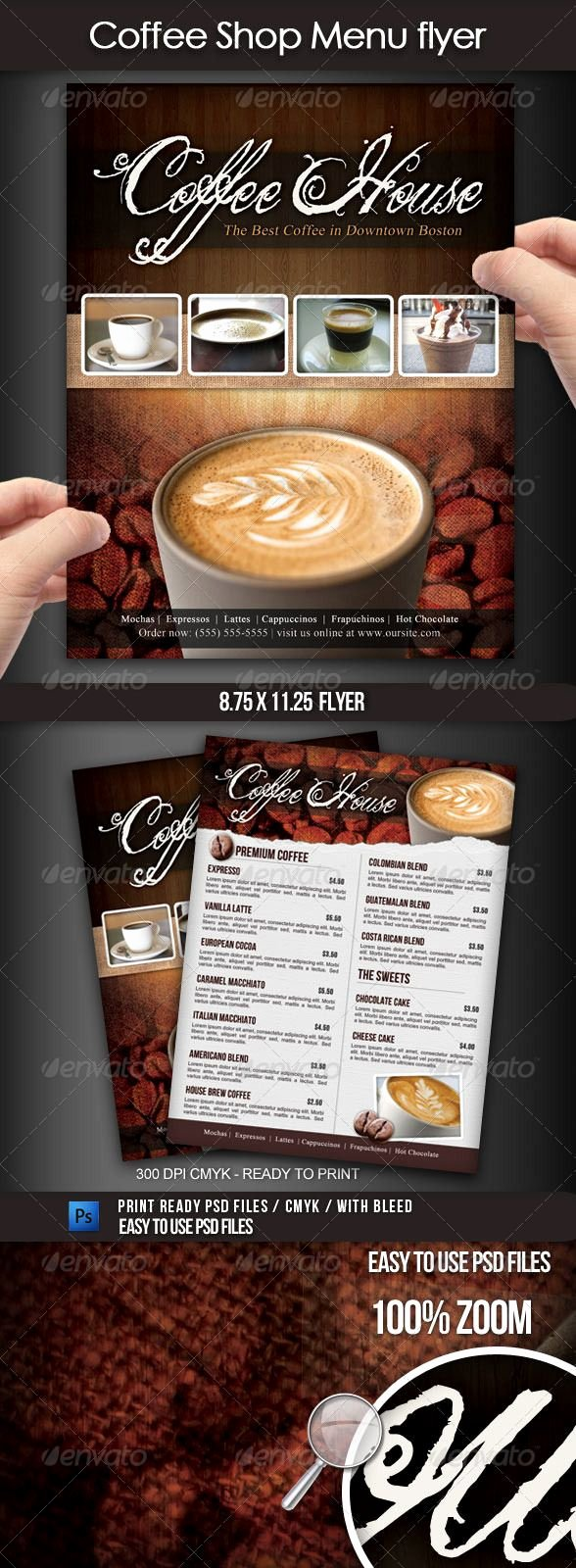 Coffee Shop Menu Template Beautiful Coffee Shop Menu Flyer