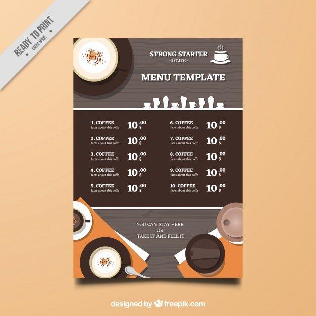 Coffee Shop Menu Template Best Of Coffee Shop Menu Template Vector