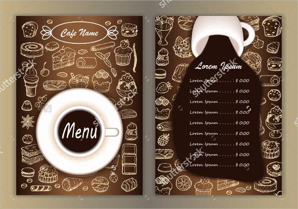 Coffee Shop Menu Template Elegant 20 Coffee Menu Templates – Free Sample Example format