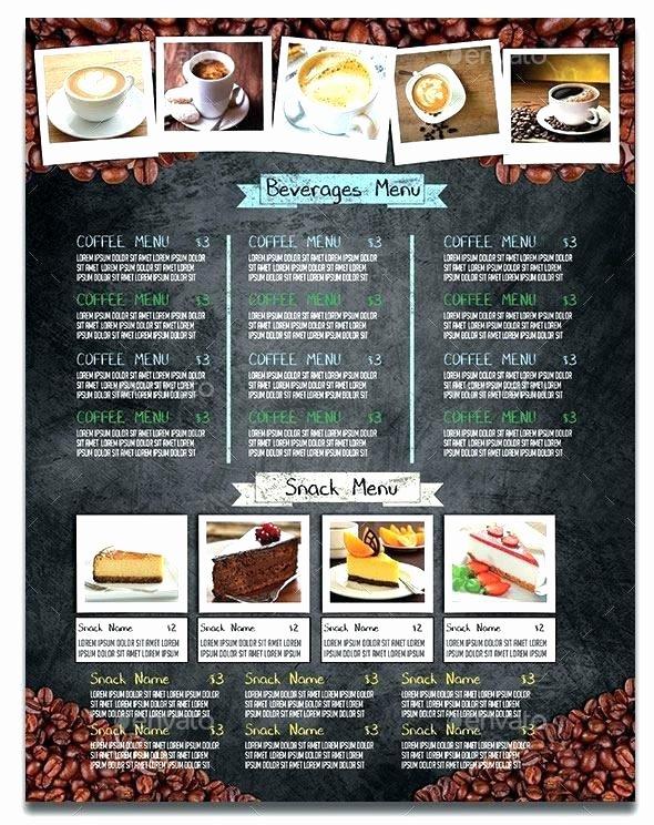 Coffee Shop Menu Template Elegant Coffee Shop Menu Template Free – Teik