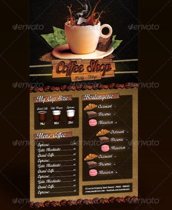 Coffee Shop Menu Template Fresh 51 Restaurant Menu Templates Design Psd Docs Pages