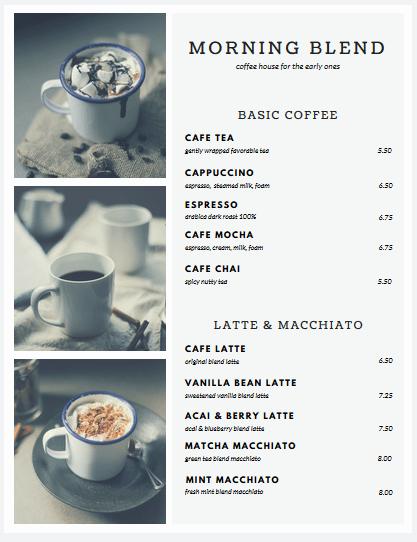 Coffee Shop Menu Template Fresh top 25 Free & Paid Restaurant Menu Templates