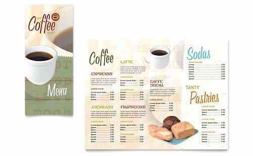 Coffee Shop Menu Template Inspirational Coffee Shop & Cafe Menu Templates