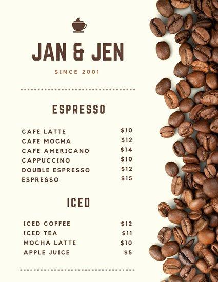Coffee Shop Menu Template Inspirational Dark Brown Cups Coffee Shop Menu Templates by Canva